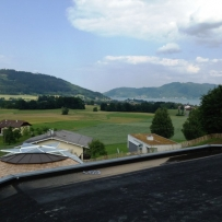 View from SOLARDOME PRO, dome house, Austria