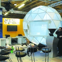Custom made sphere for Elcom, Olympia