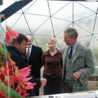 HRH Prince Charles visiting a horticultural dome