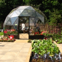 SOLARDOME Haven, vegetable garden