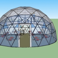 SOLARDOME PRO concept for canteen dome, Salford