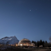 SOLARDOME PRO, Eco-Home, Norway at night