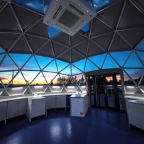 Inside the SOLARDOME PRO science lab, Watford Grammar School for Girls