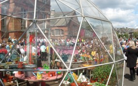 SOLARDOME Agena Battlefield Primary School open day - eco-schools
