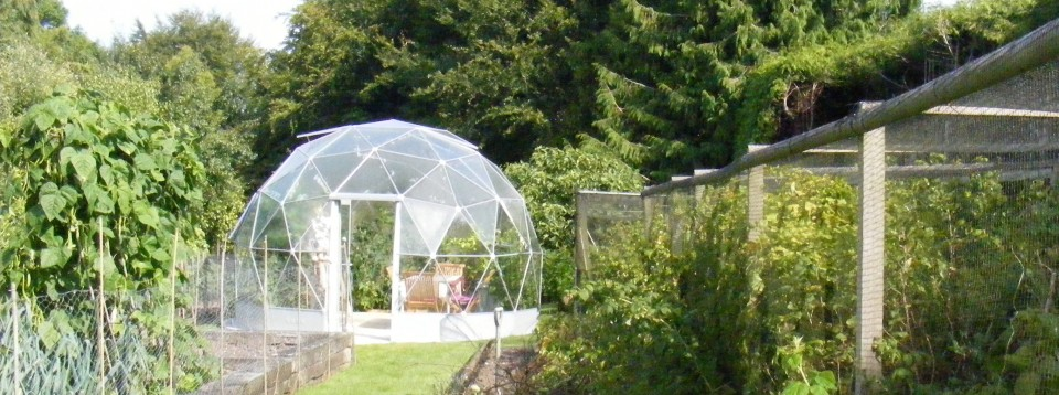 Solardome Haven studio, greenhouse and dining