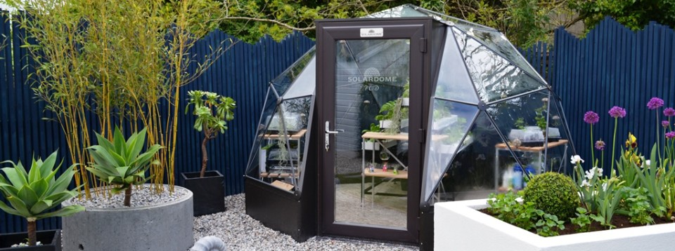SOLARDOME Pod Luxury Dome Greenhouse Solardome Industries