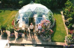 A dome in their old and new garden
