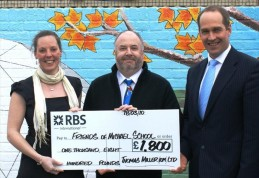 Michael Primary School cheque handover