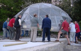 Relocation of a old Solardome glasshouse