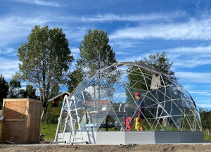 Geodesic dome in Norway