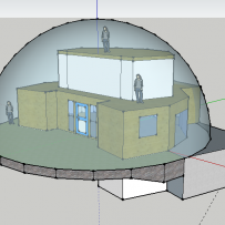SOLARDOME PRO, CAD image of house cover, Norway