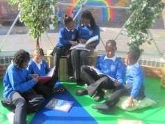 Primary school reading in the dome