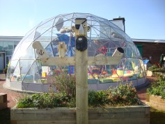 Multifunctional outdoor learning space - Solardome Sanctuary at Westgarth Primary School