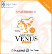 Natwest Venus Award for Small Business finalist