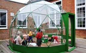 A SOLARDOME Agena in the courtyard at local School