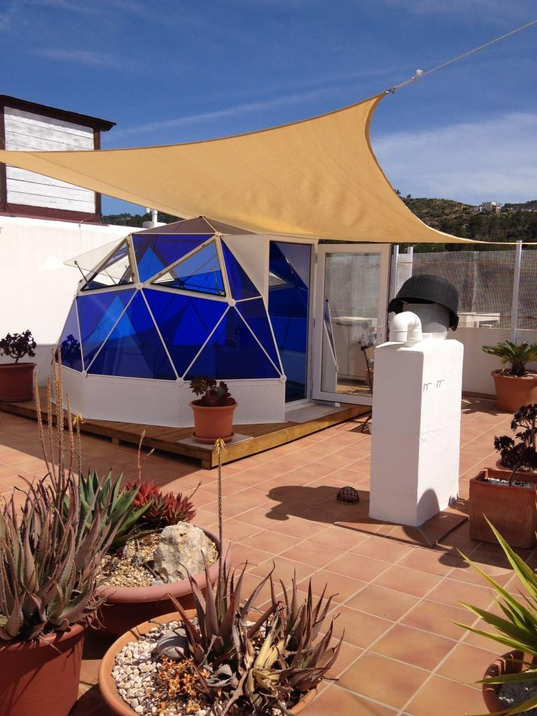 Rooftop terrace dome, Ibiza