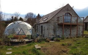 Haven glasshouse in Brown, North Wales