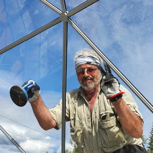 Geodesic dome specialist Marc Moravia