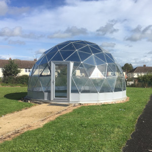 Outdoor classroom dome in Cheshire